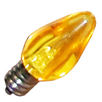 C7YEL/LED 80501 C7 YELLOW SMOOTH CAND LED