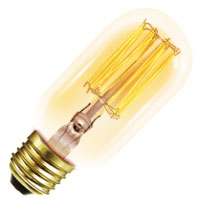 T14ANT40 20007 40W T14 ANTIQUE MED 120V HALCO