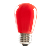 S14RED1C/LED 80517 LED S14 1.4W RED DIMMABLE E26 PROLED