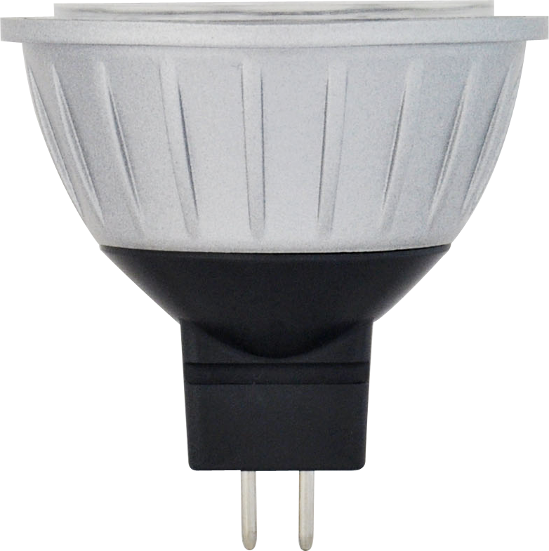 MR16BAB/830/LED 81062 LED MR16 4W 3000K Dimmable 40 GU5.3 ProLED Damp Location Silver/Dark Gray