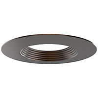 """DL6/ORB 99933 6"""" OIL RUBBED BRONZE TRIM-STEPPED BAFFLE"""