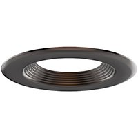 """DL4/ORB 99937 4"""" OIL RUBBED BRONZE TRIM-STEPPED BAFFLE"""