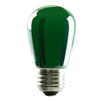 S14GRN1C/LED 80519 LED S14 1.4W GREEN DIMMABLE E26 PROLED