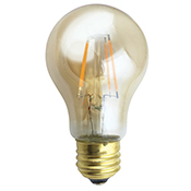 A19AMB4ANT/722/LED 81129 A19 4.5W 2200K AMBER DIMMABLE FILAMENT E26 ProLED
