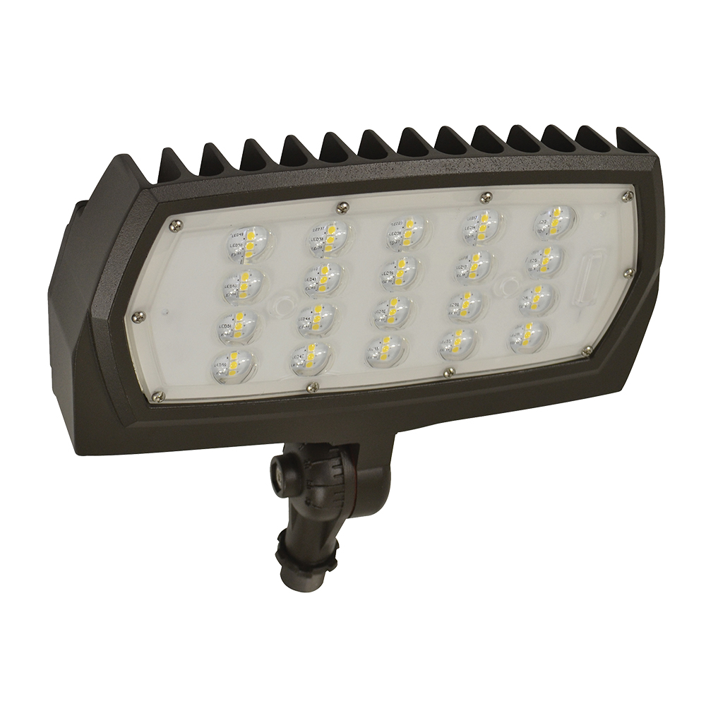 FL2/CL28BZ50/KN/LED 99877 LED MEDIUM FLOOD 120-277V, 28W, 5000K, DIMMABLE, BRONZE, KNUCKLE MOUNT