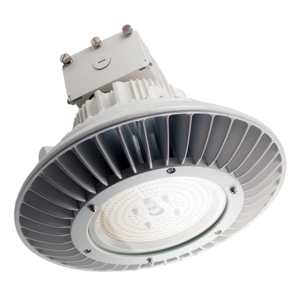 RHB150/850/UNV/W 10130 Round LED High Bay 120-277V, 150W, 5000K, 0-10V Dimming, Wide Distribution