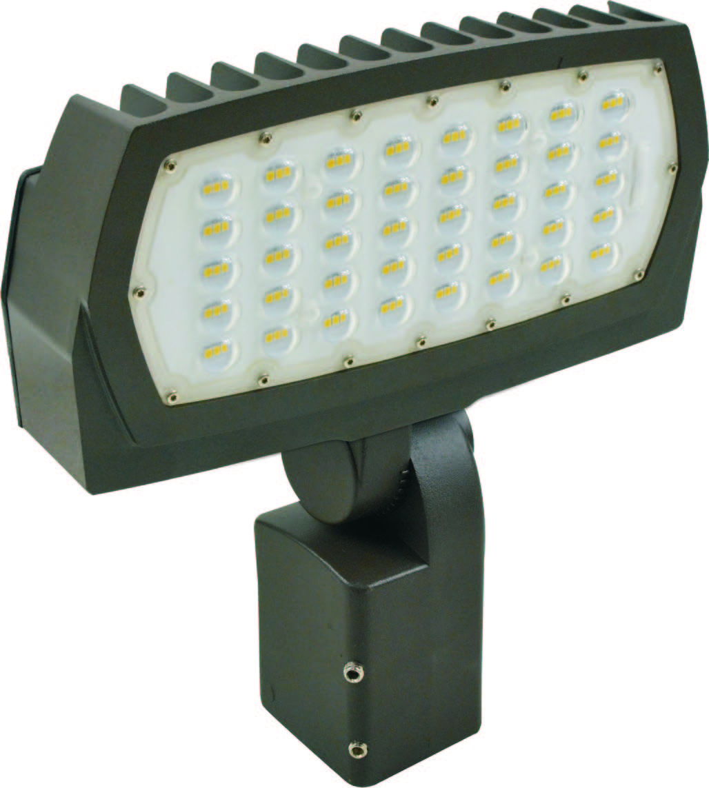 FL3/CL75BZ50U/SF 99671 LED LARGE FLOOD 75W 5000K BRONZE 120-277V SLIPFITTER KNUCKLE MOUNT