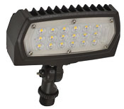 FL1/CL12BZ40/KN 99663 LED SMALL FLOOD 120-277V, 12W, 4000K, NON-DIMMABLE, BRONZE, KNUCKLE MOUNT
