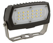 FL1/CL12BZ40/YK 99664 LED SMALL FLOOD 120-277V, 12W, 4000K, NON-DIMMABLE, BRONZE, YOKE MOUNT