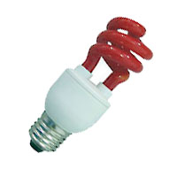 CFL11/RED 109220 11W T3 SPIRAL RED MED PROLUME