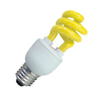 CFL11/YEL 109222 11W T3 SPIRAL YELLOW MED PROLU