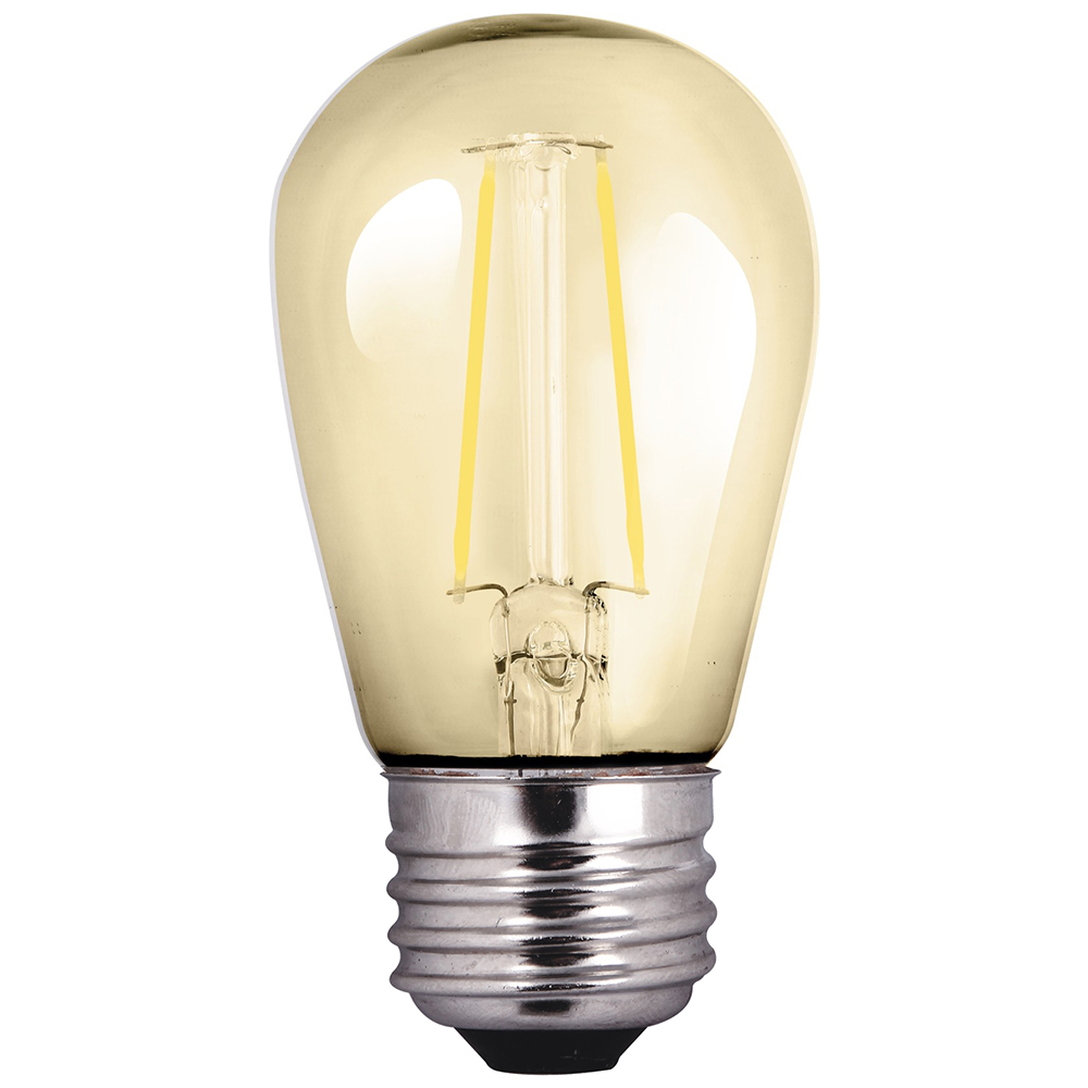 S14AMB2ANT/822/LED 81140 S14 2W 2200K AMBER NON-DIMMABLE FILAMENT E26 ProLED