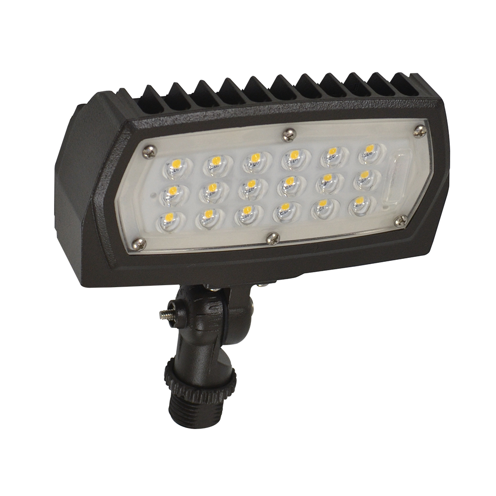 FL1/CL12BZ50/KN/LED 99875 LED SMALL FLOOD 120-277V, 12W, 5000K, NON-DIMMABLE, BRONZE, KNUCKLE MOUNT