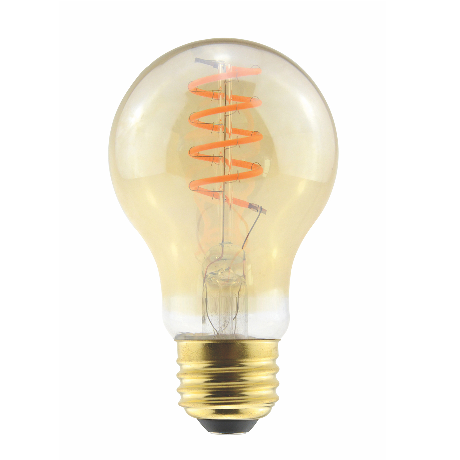 A19AMB6ANT/820/CF/LED2 85078 A19 120V 6.5W Curved Filament 2000K E26 Amber ProLED