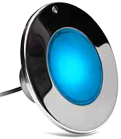 LPL-F2C-12-150-M 22100 12V - Color Splash LED Fixture - Pool - RGB Color Changing - 150' Cord - Matte Bezel