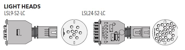 LSL9-S2-LC JJ9913 9 LED SPA LIGHT SLAVE W/LOCKING CONNECTOR (1/bag and 50/box and 8 boxes of 50 into a master box)
